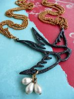 Tattoo swallow pendant by janedean