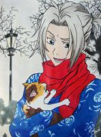 gokudera and kitty by chwee