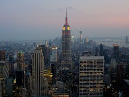 Manhattan at dusk by MisterKrababbel