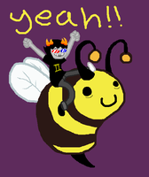 Sollux. On a Bee. by PlatypusPirate