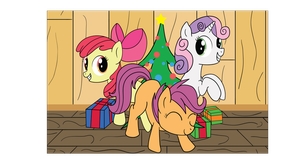 Cutie Mark Crusaders : MERRY CHRISTMAS by TabbyDerp