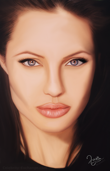 Angelina Jolie - painting by Design-Maker