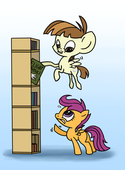 ATG - Day 21: Pony Helping Someone by Wolframclaws