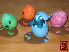 dragon easter eggs by Luna-cuteXD