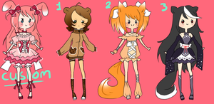 Fuwafuwa animal Adoptables 35 points SOLD by Chancetodraw