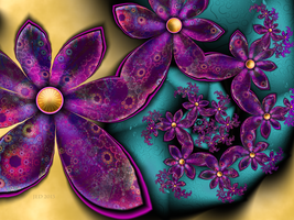 Brocade Flowers by 21citrouilles