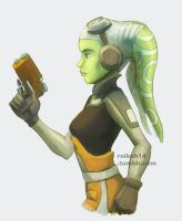 Hera Syndulla colored sketch. by Raikoh-illust