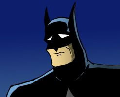 Sad Batman (Bruce Timm Style) 1 by Big-Al-Son86