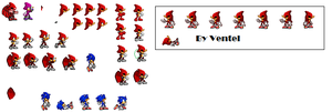 Ved sprite sheet by VedtheFlameDevil