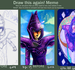 Draw This Again: Dark Magician 2004-2012-2016 by paje-chan