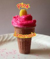 Pink Lemonade Ice cream cupcake by hija-de-luna