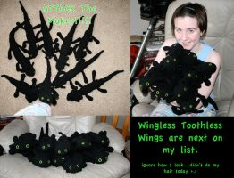 Crochet Too Many Toothless by FeatheredDragon