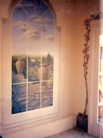 faux window and vine by MuralsbyLeBold