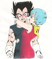 Vegeta and Bulma by es3090tl