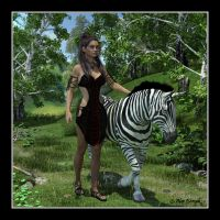 Briley and the Zebra by CitizenOlek