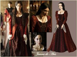 Joan of Portugal with red dress 2 by Nurycat