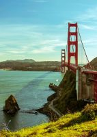 Golden Gate Portrait by SimonVelazquezArt