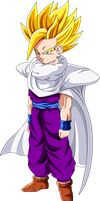 Super Saiyan 2 Gohan (Redrawn) by Majin-Ryan