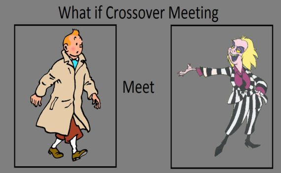 Crossover Meme:Tintin meets Beetlejuice by TandP