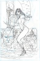 Vampirella 1 Cover Pencils by TerryDodson