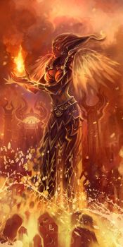 flame druid by breath-art