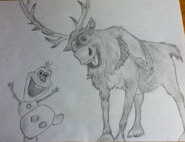 Frozen: Olaf and Sven by Kaitlin73