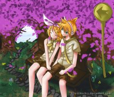 Rin and Len's Sleeping Forest by devbrs