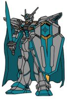 Knightmare Gundam With Cape by Nightwing03