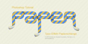 Typo Effekt Papierschlange by templay-team