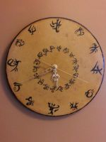Warded wooden clock by spookysculpter
