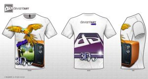 Retro T-shirt 3d tv by christophersalvato
