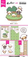 Duvet and Sham Design for Bed Bath and Beyond by mAi2x-chan