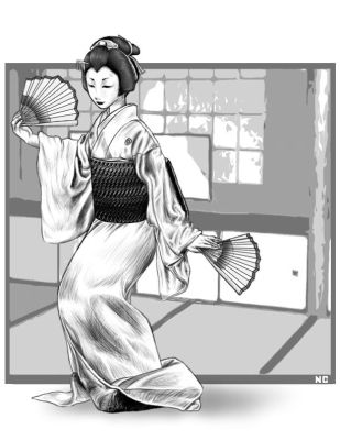 Geisha dance by lilbeaver