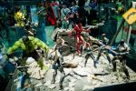 Avengers fight off Chitauri Invasion by Etherien