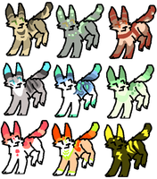 9 Cat Adoptables OPEN by BlackyPaws