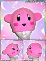 Pink Kirby Hat by AnimeNomNoms