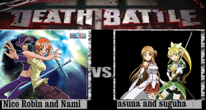 Nico Robin And Nami Vs Asuna and Suguha by newsuperdannyzx
