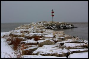 Cold Day at the Shore by Rebacan