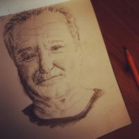 Robin Williams Quick Sketch by rossutd