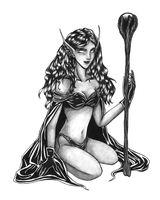 Elf witch by Lillien