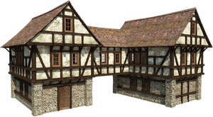Medieval House 2 |PNG by fumar-porros