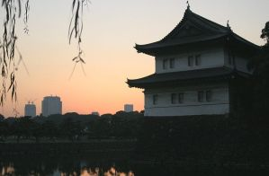 Imperial Palace with Skyline by mxtheory