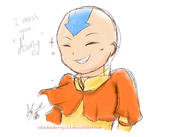 I miss you, Aang...~ by chichicherry123