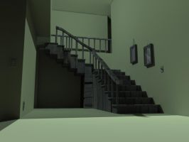 Stairs upstairs by OrganBoy