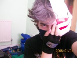 Me cosplaying kakashi by KindiChan