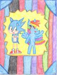 Requested: Sonic And Rainbow, The Dynamic Duo by MyMelodyOfTheHeart