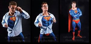 Superman bodypaint stripping by cats-creations