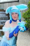 Glaceon at the Fountain by kojika