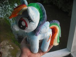 Rainbow Dash Plush! by SecludedOtaku