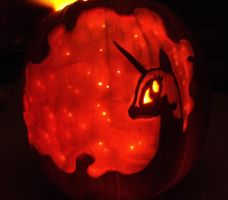 Nightmare Moon O'Lantern by sgtgarand
